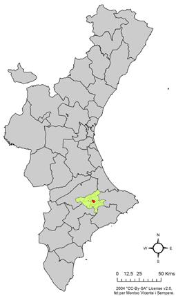 Archivo:Localització d'Almudaina respecte el País Valencià.png