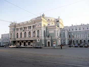 Foto del Teatro Mariinski en los años 1990.