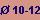 diámetro entre 10 y 12 m