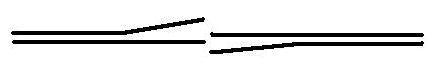 Sección vertical de cruce del diseño dela acueducto de Eupalinos