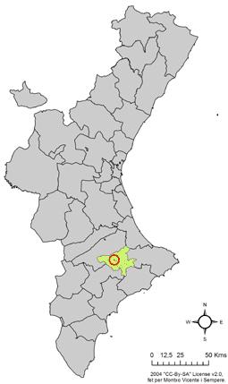 Archivo:Localització de l'Alqueria d'Asnar respecte el País Valencià.png