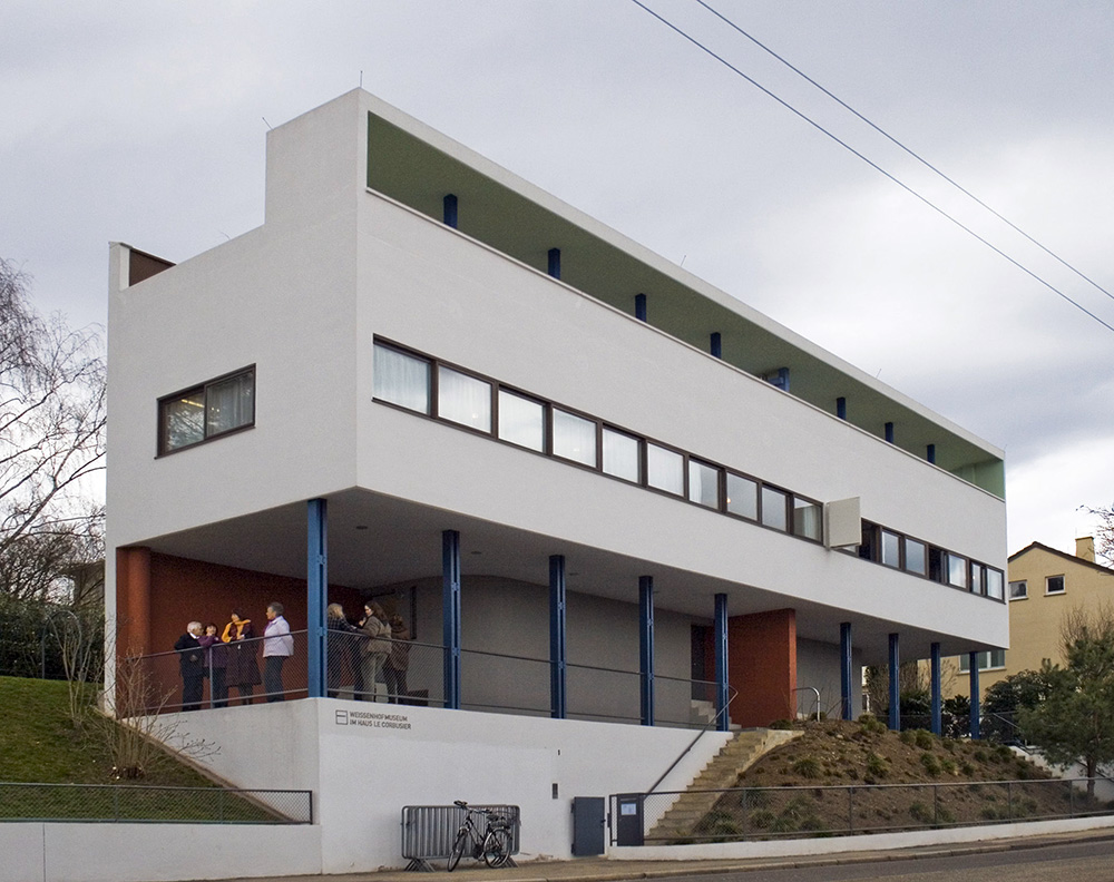 Vivienda doble en la colonia weissenhof urbipedia archivo de arquitectura - Le corbusier casas ...