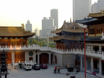 El templo de Jing'an en Shanghai.