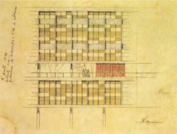 Croquis de la fachada principal