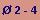 diámetro entre 2 y 4 m