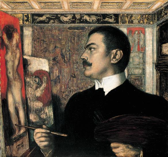 Archivo:Franz von Stuck Selbstbildnis im Atelier.jpg