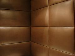Pared tapizada en Cuero