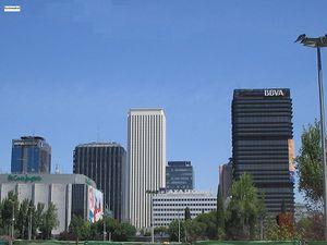 Vista de AZCA desde la Estación de Nuevos Ministerios.