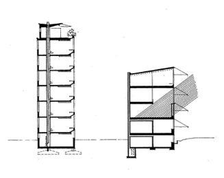 Secciones por planta de enfermos y de salas comunes