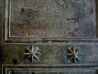Detalle de puerta de Bronce