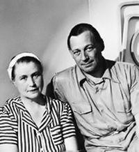 Alvar Aalto con su esposa Aino