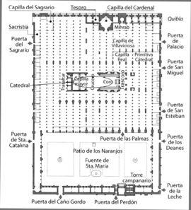 Planta de la mezquita-catedral.