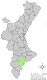Localización de San Juan de Alicante respecto a la Comunidad Valenciana