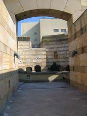 Vista exterior de la entrada a la rotonda central del museo.