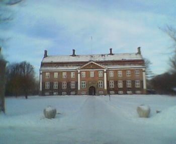 El palacete de Svanholm durante enero de 2006 (invierno boreal).