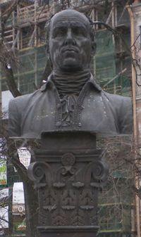Antonio Rinaldi monument in Manezhnaya Square Public Garden (face).jpg