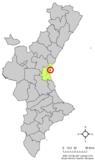 Localización de Alboraya respecto a la Comunidad Valenciana