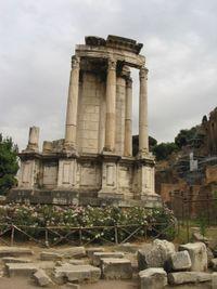 Restos del Templo de Vesta.
