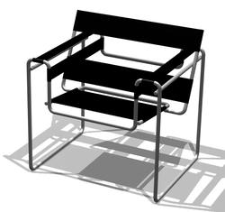La silla Wassily fue un diseño revolucionario para la época por su construcción en acero cromado.