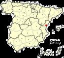 Localización de la ciudad de Castellón en España
