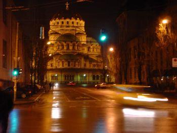 Catedral Alexander Nevski (Свети Александър Невски) de noche