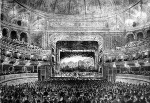 El interior del Teatro Dal Verme 1875