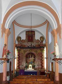 Interior Ermita San Pío V de Adamuz