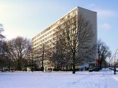 Schwedenhaus, Interbau, Berlín (1955-1957), junto con Sten Samuelson