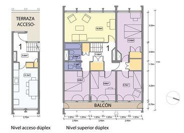 Dúplex tipo de 4 dormitorios (96m2)