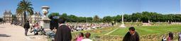 Vista panorámica del Jardín del Luxemburgo
