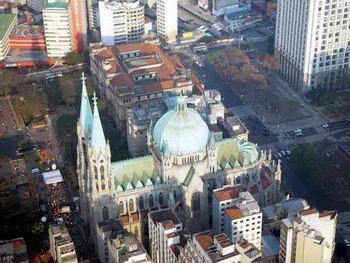 Catedral Metropolitana de São Paulo, vista aérea