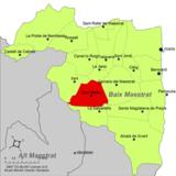 Localización de San Mateo respecto a la comarca del Bajo Maestrazgo