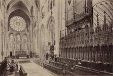 Interior de la Iglesia en 1890