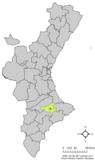 localización respecto a la Comunidad Valenciana