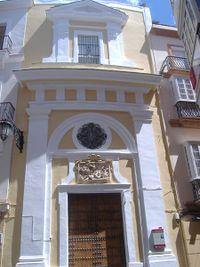 Fachada de la Iglesia de la Conversión de San Pablo de Cádiz.