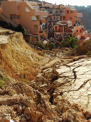 deslizamiento en Sa Caixota (Ibiza). Septiembre de 2005