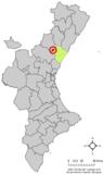 Localización de Sueras respecto al País Valenciano