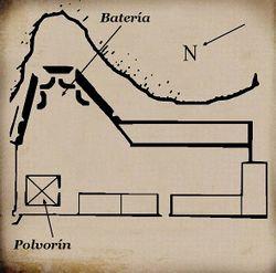 Plano del Fuerte de Santiago