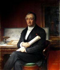 Louis Visconti. Retrato póstumo por Théophile-Auguste Vauchelet. París, Museo Carnavalet.