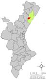 Localización de Villafamés respecto a la Comunidad Valenciana