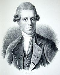 Nikolai Abraham Abildgaard en un grabado de Jens Juel
