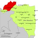 Localización de Puebla de Benifasar respecto a la comarca del Bajo Maestrazgo