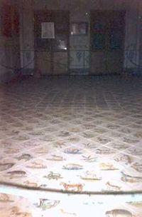 Palacio de los San Juan.Vista del pavimento de uno de los salones.