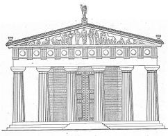 Reconstrucción del Templo de Zeus en Olimpia.