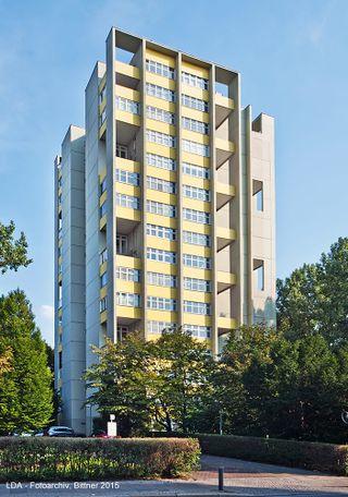 Torre de viviendas en la Interbau, Berlín (1957)