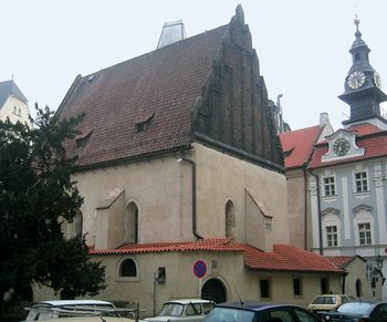 Fachada occidental de la Sinagoga Vieja-Nueva
