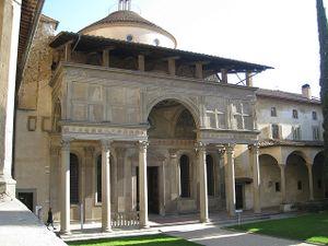 Exterior de la capilla Pazzi.