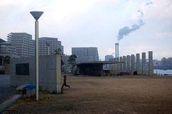 Plaza en el frente marítimo de Kobe (2001)