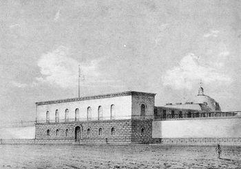Dibujo de la penitenciaría de Lima.