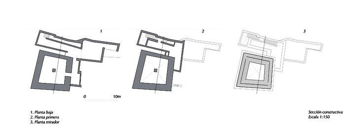 Antonio Jiménez Torrecillas.Torre del homenaje.planos.jpg